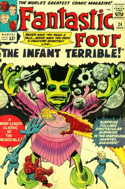 Fantastic Four 24 - Mr Fantastic - Thing - Human Torch - Invisible Woman - Jack Kirby