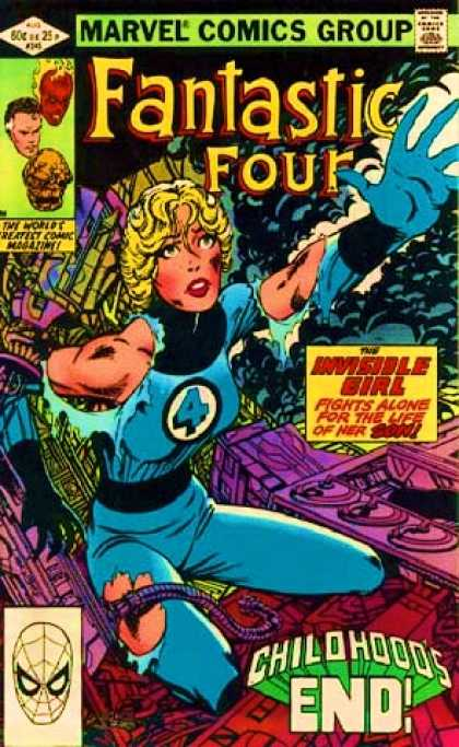 Fantastic Four 245 - Thing - Marvel Comics Group - Approved By The Comics Code - Invisible Girl - Childhoods End - John Byrne