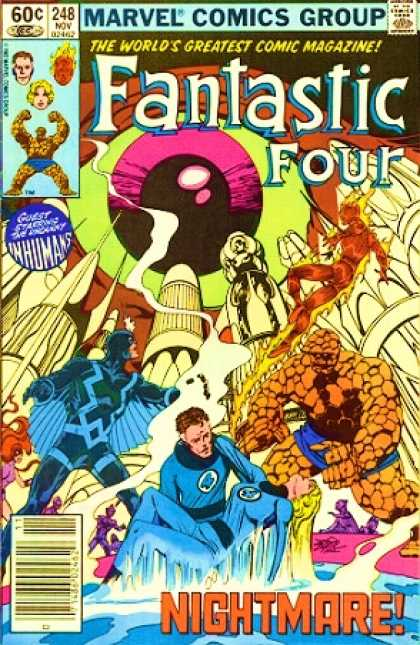 Fantastic Four 248 - Eye - Inhumans - Blackbolt - Mr Fantastic - Black Bolt - John Byrne