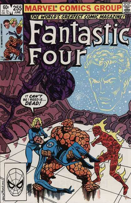 Fantastic Four 255 - Marvel Comics Group - 255 June - Approved By The Comics Code Authority - Dead - Mask - John Byrne