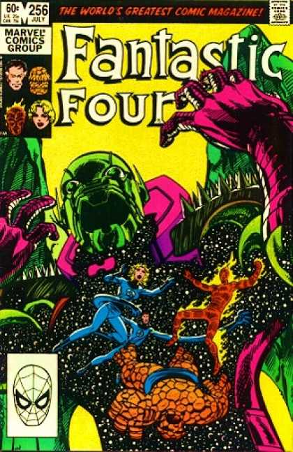 Fantastic Four 256 - Space - Marvel Comics Group - Mr Fantastic - Invisible Girl - The Thing - John Byrne