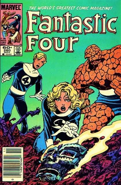 Fantastic Four 260 - Dr Doom - Human Torch - Mask - The Thing - Buried - John Byrne