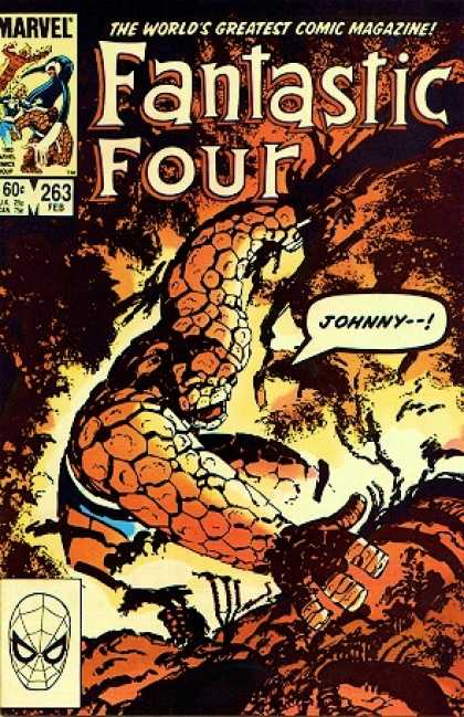 Fantastic Four 263 - Thing - Marvel - Johnny - 263 - February - John Byrne