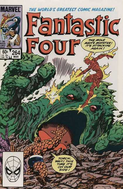 Fantastic Four 264 - Fantastic Four - Marvel - 264 - Mole Mans Monster - Torch - John Byrne