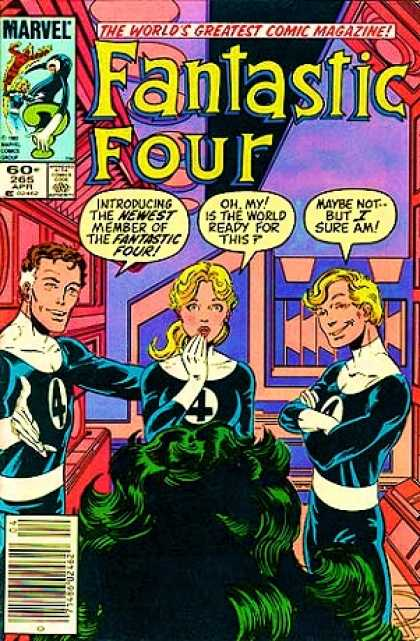 Fantastic Four 265 - She-hulk - Marvel Comics - The Worlds Greatest Comic Magazine - Introducing The Newest Member Of The Fantastic Four - Oh My Is The World Ready For This - John Byrne