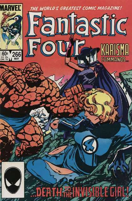 Fantastic Four 266 - Karisma Commans - Marvel Comics - Death To The Invisible Girl - Monster - Woman - John Byrne