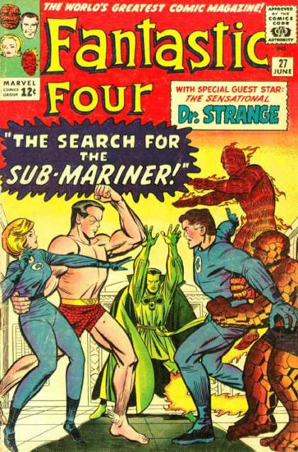 Fantastic Four 27 - Sub-mariner - Mans Swimsuit - Heroes - Tile Floor - Search - Jack Kirby