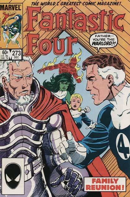 Fantastic Four 273 - Mr Fantastic - Invisible Woman - Human Torch - Thing - Marvel - John Byrne
