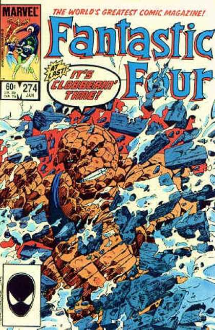 Fantastic Four 274 - Bricks - The Thing - Marvel Comics - White Teeth - Broken Wall - John Byrne