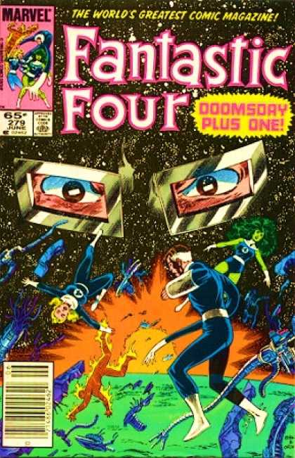 Fantastic Four 279 - She Hulk - Human Torch - Mr Fantastic - John Byrne