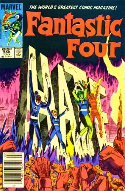 Fantastic Four 280 - She Hulk - Hate - Human Torch - Mr Fantastic - Invisible Woman - John Byrne