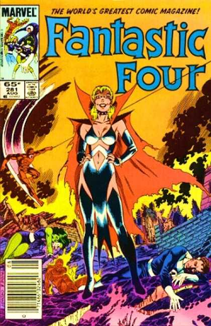 Fantastic Four 281 - She-hulk - Daredevil - Mr Fantastic - Human Torch - Reed Richards - John Byrne