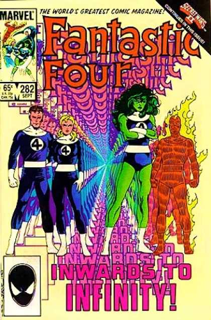 Fantastic Four 282 - Human Torch - Mr Fantastic - She-hulk - 282 - Secret Wars Ii Continues - John Byrne
