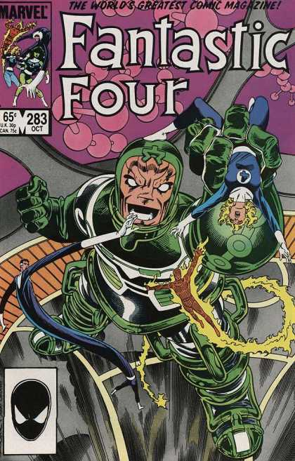 Fantastic Four 283 - Giant - 283 - Clutch - Flame - Roar - Jerry Ordway, John Byrne
