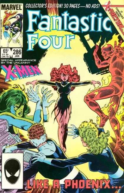 Fantastic Four 286 - Dark Phoenix - Marvel Comics - 286 - Uncanny X-men Appearance - Collectos Item - John Byrne