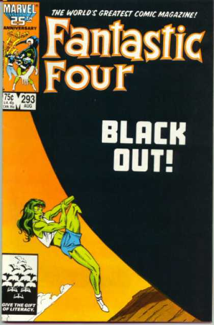 Fantastic Four 293 - Black Out - She Hulk - She-hulk - Fantastic Four - Black Ball - John Byrne