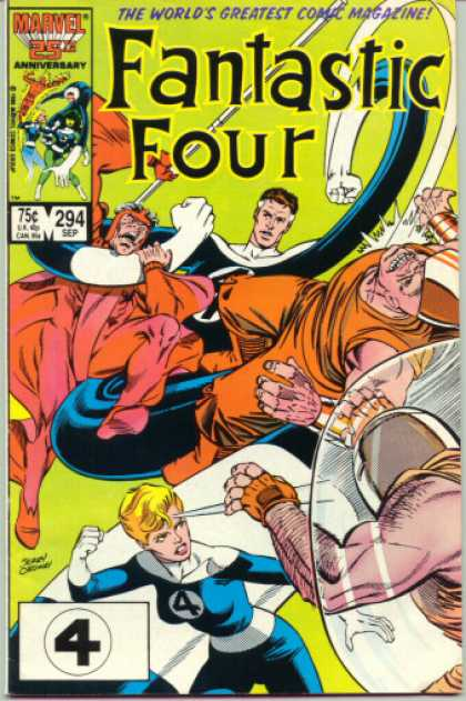 Fantastic Four 294 - Mr Fantastic - Invisible - Human Torch - Reed Richards - Jerry Ordway