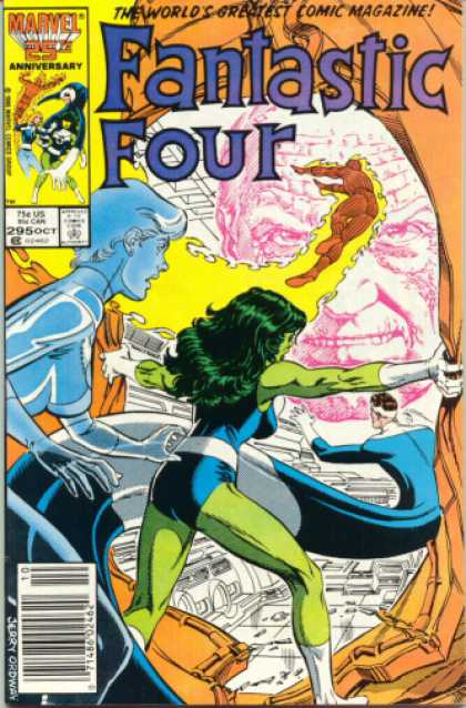 Fantastic Four 295 - Marvel - Anniversary - 25th - Jerry Ordway - October - Jerry Ordway