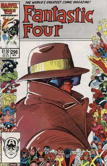 Fantastic Four 296 - Hat - Invisible Man - The Incredible Hulk - 296 Nov - Captain America - Barry Windsor-Smith