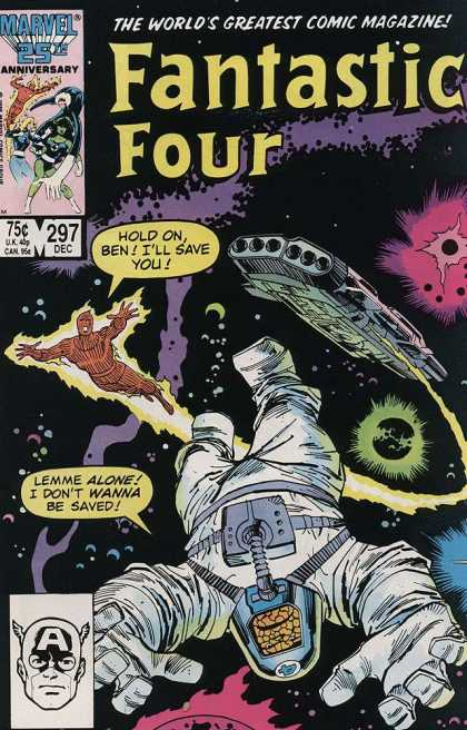 Fantastic Four 297 - Awsome Team - Special Abilities - Space Travel - Spaship - Big Special - John Buscema