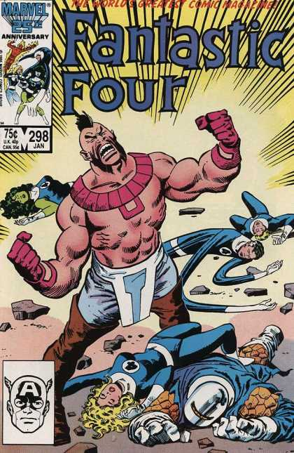Fantastic Four 298 - She-hulk - Masked Thing - Issue 298 - Marvel - 25th Anniversary - Jerry Ordway