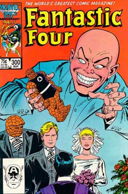 Fantastic Four 300 - Thing - Fantastic Four - Handsome Groom - Wedding Ceremony - Demonic Bald Villain - John Buscema