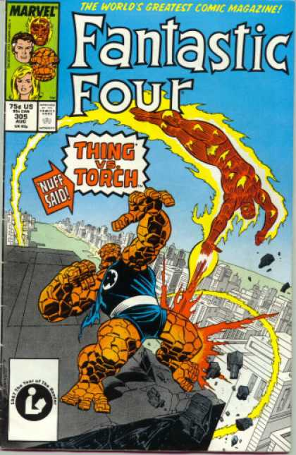 Fantastic Four 305 - Thing - Torch - Marvel - The Thing - Human-torch