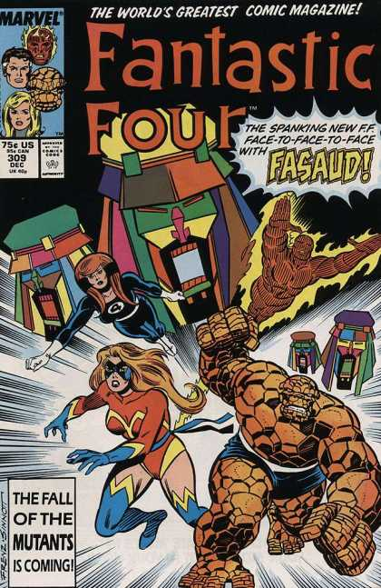 Fantastic Four 309 - Robotic - Greatest - Marvel - Colorful - Four - Joe Sinnott