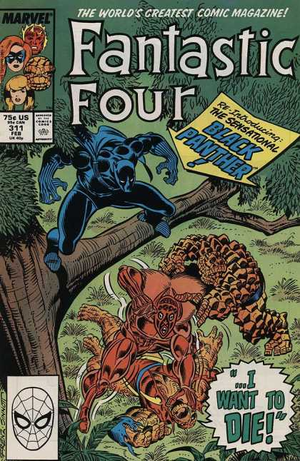 Fantastic Four 311 - Black Panther - I Want Do Die - 311 Feb - Marvel - Fight - Joe Sinnott