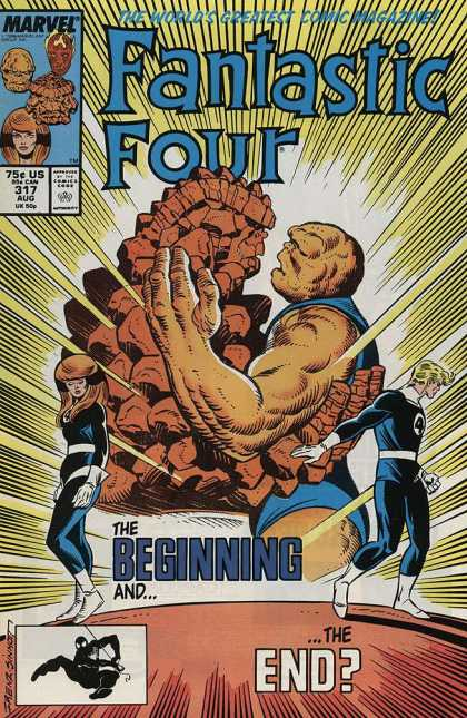 Fantastic Four 317 - Marvel - 75c Us - 317 Aug - The Beginning And The End - The World Greates Comic Magazine - Joe Sinnott