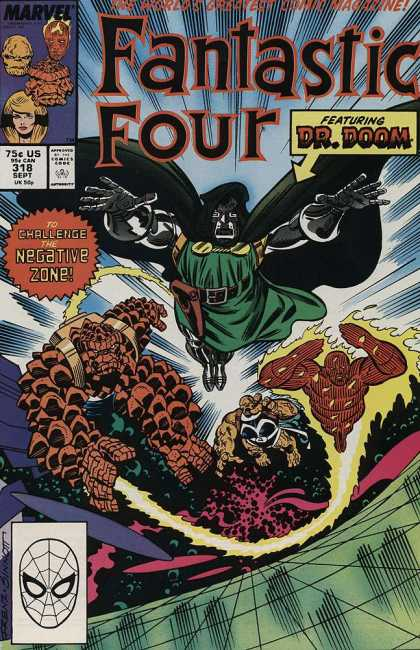 Fantastic Four 318 - Marvel - Marvel Comics - Dr Doom - The Thing - Negative Zone - Joe Sinnott