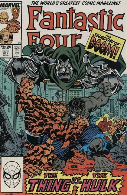 Fantastic Four 320 - Dr Doom - Hulk - The Thing - Building - Battle - Joe Sinnott