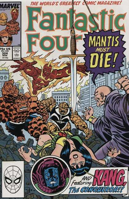 Fantastic Four 324 - Marvel - Comics Code - Mantis Must Die - The Thing - Human-torch - Joe Sinnott