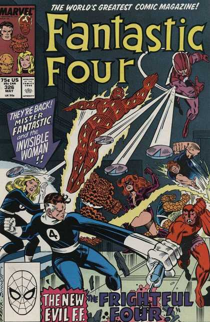 Fantastic Four 326 - Mister Fantastic - Invisible Woman - Human Torch - Thing - Stan Lee - Joe Sinnott
