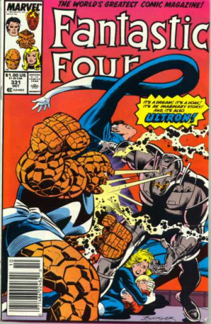 Fantastic Four 331 - Ultron - Mr Fantastic - The Thing - The Human Torch - The Invisible Woman - Joe Sinnott, Richard Buckler