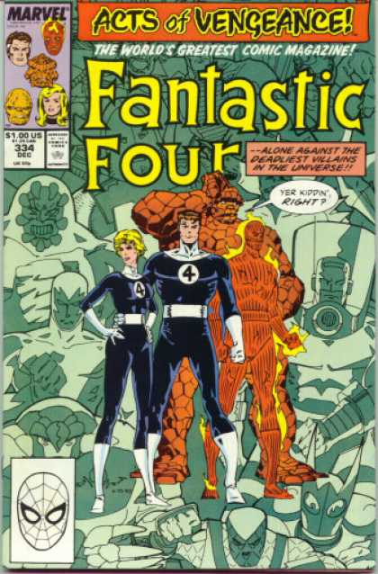 Fantastic Four 334 - Thing - Acts - Vengeance - Villains - Universe - Walter Simonson