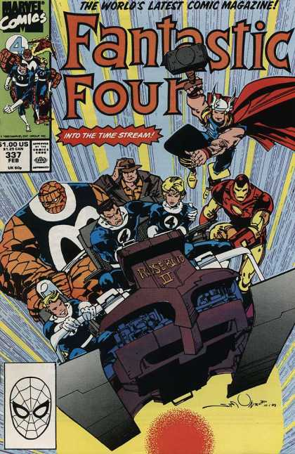 Fantastic Four 337 - Into The Time Stream - Roserio Ii - Superheroes - Sledge Hammer - Vehicle - Walter Simonson