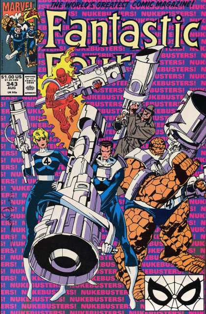 Fantastic Four 343 - Marvel Comics - 100 Us - 343 Aug - Lazer Guns - Thing - Walter Simonson