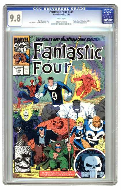Fantastic Four 349 - Skull - Wolverine - Spiderman - Ghost Rider - Hulk - Arthur Adams