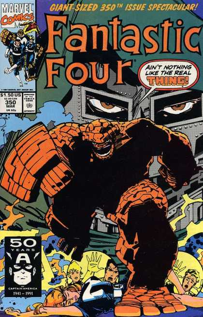 Fantastic Four 350 - The Thing - 350 Mar - Aint Nothing Like The Real Thing - 50 Years - Human Torch - Walter Simonson