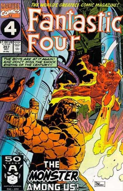 Fantastic Four 357 - Thing - Human Torch - Al Williamson, Paul Ryan