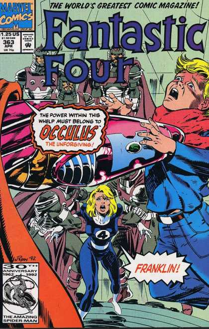 Fantastic Four 363 - Occulus - The Worlds Greatest Comic Magazine - Marvel Comics - Sue Storm - Franklin - Paul Ryan