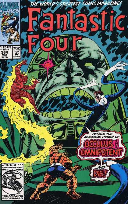 Fantastic Four 364 - Fantastic Four - Marvel - Issue 364 - Occulus The Omnipotent - May 1992 - Paul Ryan