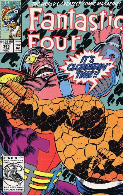 Fantastic Four 365 - Thing - Mr Fantastic - Marvel - Its Clobberin Time - Punch - Paul Ryan