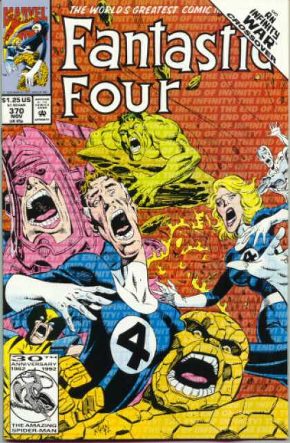 Fantastic Four 370 - Hulk - Infinity War - Crossover - The Thing - Human Torch - Paul Ryan