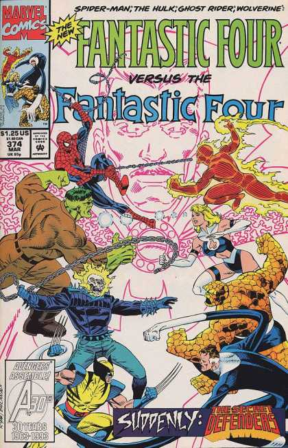 Fantastic Four 374 - Superman - The Hulk - Ghost Rider - Wolverine - Diamond - Paul Ryan