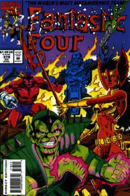 Fantastic Four 378 - Fire - Skrull - Klaw - Wings - Flames - Paul Ryan