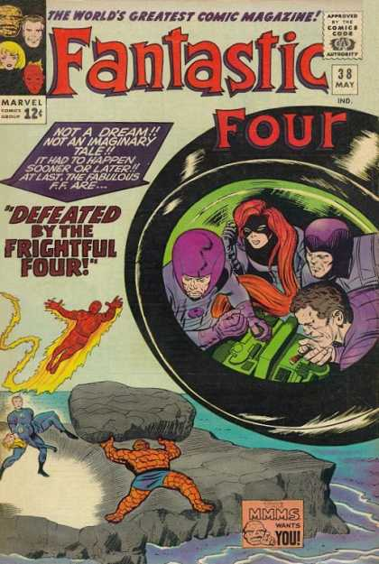 Fantastic Four 38 - Fantastic Four - The Worlds Greatest Comic Magazine - Defeated By The Frightful Four - Not A Dream - Marvel - Jack Kirby