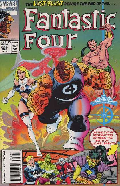 Fantastic Four 386 - Ben Grimm - Prince Namor - Crossover - Sue Storm - Birth - Paul Ryan