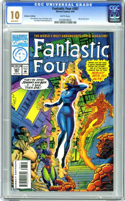 Fantastic Four 387 - Marvel - Superhero - Sub-mariner - Namora - Atlantis - Paul Ryan